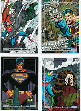 SUPERMAN: THE DEATH OF DOOMSDAY SET OF 4 FOIL CARDS S1-S4