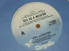 "PAT BENATAR *RARE 7"" 45 ' SEX AS A WEAPON ' 1985 VGC+"