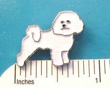 BICHON FRISE -   hat pin , lapel pin , tie tac , hatpin (s)  GIFT BOXED