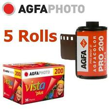AU:5 Rolls x AgfaPhoto VISTA Plus 200 ISO 36exp 135 35mm Color Film EXP.2018