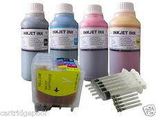 Refillable ink cartridge for Brother LC61 MFC-J415W MFC-J615W MFC-J630W+4X10OZ/S