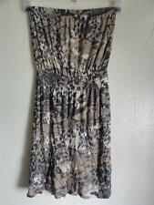 AQUA OLIV CAMO TUBE VISCOSE DRESS, Olive multi, Size S, MSRP $88