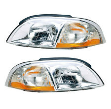 99-03 FORD WINDSTAR HEADLIGHTS FRONT LAMPS PAIR SET