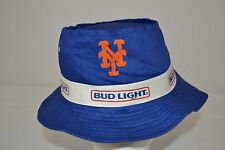 """NY Mets Bud Light Hat Blue fabric 100% cotton 22"""" circumference"""