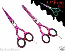 Professional Hair Cutting Salon Hair Stylist Thinning Shears Scissors Set 5.5""