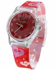 Core Girls Designer Red Dial & Strap with Hearts Plastic Watch