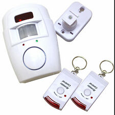 PIR Wireless Motion Sensor Home Alarm System + 2 Controls Garage Caravan Shed