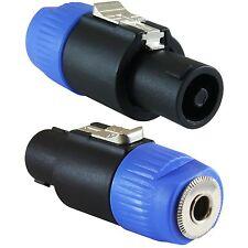 (2 Pack)  Genuine Neutrik NA4LJX Speakon Connector Adapter. Speakon to 1/4 Jack