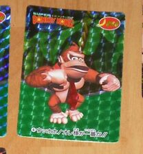 SUPER DONKEY KONG CARDDASS CARD PRISM CARTE 4 NITENDO MADE IN JAPAN 1995 **