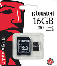 KINGSTON 16 GB MICROSDHC 16GB MICRO SD SDHC CLASS 10 KARTE SPEICHERKARTE