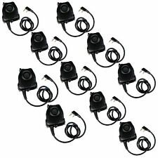 10PCS Waterproof PTT Cable for KENWOOD K Plug Z Tactical Headphone Comtac II H50