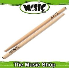 3 Pairs Zildjian 7A Anti-Vibe Hickory Drumsticks w Wood Tips - 7AWA Drum Sticks