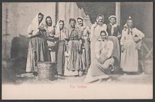 cartolina costumi siciliani GRUPPO DI DONNE IN COSTUME