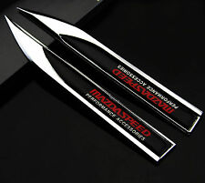 2pcs Auto car Dagger Fender Emblems Sticker Badge Decal fit for Racing sports