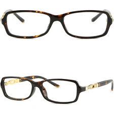 Light Rectangular Women's Frames Rhinestones Prescription Glasses Tortoiseshell