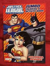 Justice League Superman Batman Jumbo Coloring & Activity Book Color DC Comics