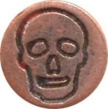 "Skull Wax Seal Stamp (3/4"" metal seal with wood handle) slightly irregular"