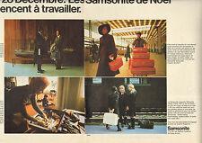 Publicité Advertising 1970 (Double page) SAMSONITE valises attaché case voyage