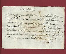Manoscritto 1697 Tre Ricevute per Debito da Affitto Tommaso del Bene - Firenze
