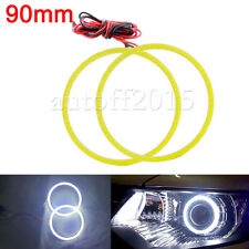2Pcs 90mm 80smd Led COB Angel Eye Fog Light Lamp Halo Ring HeadLight White 12V