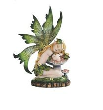 6.25 Inch Fairy Sleeping on Mushroom Statue Magic Fantasy Figurine Figure
