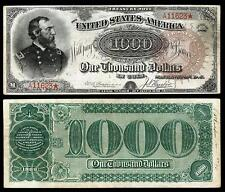 NICE CRISP 1890 $1000.00 TREASURY  COPY BANKNOTE!