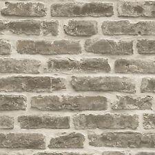 Rustique mur de brique papier peint-brun pâle-J34407 ugepa