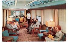 Seaboard Railroad-SUN LOUNGE CAR IN SILVER METEOR-Postcard New York to Florida