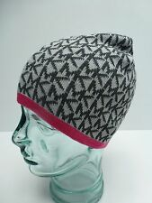 MICHAEL KORS Woman's Beanie *Black/Red/Gray *Winter Hat *One Size Most New