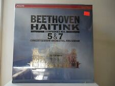 """BEETHOVEN HAITINK - SYMPHONIES NOS. 5 & 7 - PHILIPS RECORDS-420-540-1 - """"SEALED"""""""