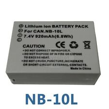 New NB-10L Battery For Canon Powershot G16 G15 SX50 HS SX40 HS G1 X 7.4 V