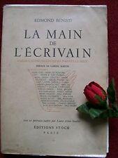 BENISTI EDMOND  : LA MAIN DE L' ECRIVAIN ..1939