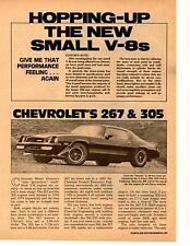 1980 HOPPING-UP THE CHEVROLET 267 & 305  ~  NICE 3-PAGE ARTICLE