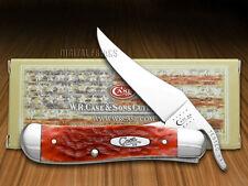 CASE XX Dark Red Bone Russlock CV Pocket Knives Knife