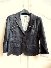 IKKS Black linen girls light jacket size 10