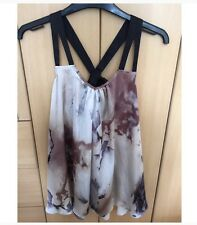 river island galaxy bow detail chiffon top size 6