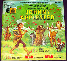 Johnny Appleseed - Disney Record & Book - LLP 335 w/Record!