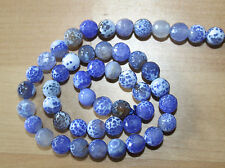 Fire Agate (Gemstone) 8mm Faceted Round Beads - Full Strand