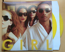 Pharrell Williams G I R L GIRL Yellow Vinyl 2LP Happy Justin Timberlake LIMITED
