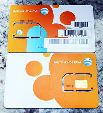 AT&T PREPAID / POSTPAID 4G LTE GO PHONE SIM CARD READY ACTIVATE STANDARD SIZE