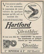 Z8270 Amortisseurs HARTFORD Silentbloc - Pubblicità d'epoca - 1927 Old advert