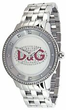 D&G Dolce and Gabanna  DW0144 Unisex Stainless Steel Crystal Accented Watch