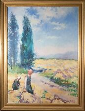 Hungarian National Export Original Oil Painting, Illegibly Signed, John Nighland