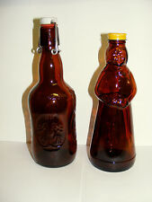 "2) Vtg. COLLECTIBLE ""BROWN"" bottles-1) AUNT JAMIMA w/cap  1) ""GROLSCH"" w/ cap"