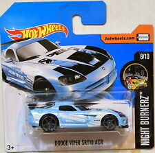 HOT WHEELS 2017 NIGHT BURNERZ DODGE VIPER SRT10 ACR #8/10 SHORT CARD
