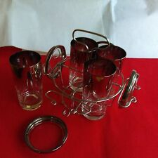 REDUCED!! Dorothy Thorpe Style Tumblers/Highball Glass w/ Caddy & Coasters