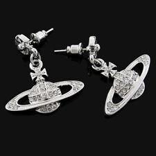 2016 Vivienne cross Saturn earrings white VE44013923-2WESTWOOD