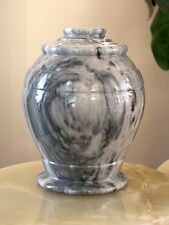 Monarch Cashmere Gray Marble Adult Funeral Cremation Urn