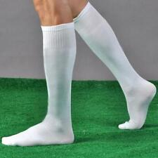 Mens White Knee Socks German Oktoberfest Lederhosen Cotton Long Socks