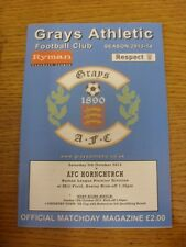 05/10/2013 Grays Athletic V AFC hornchurch. grazie per la visualizzazione di questa voce, abbiamo T